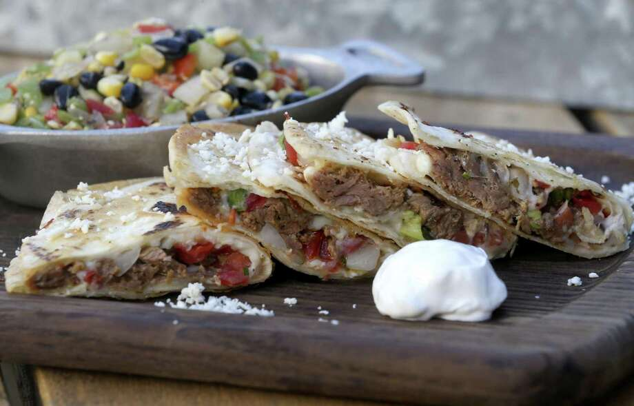 Review country food and attitude cant rescue the rustic san brisket quesadillas with corn and black bean salad from the rustic photo william luther forumfinder Image collections