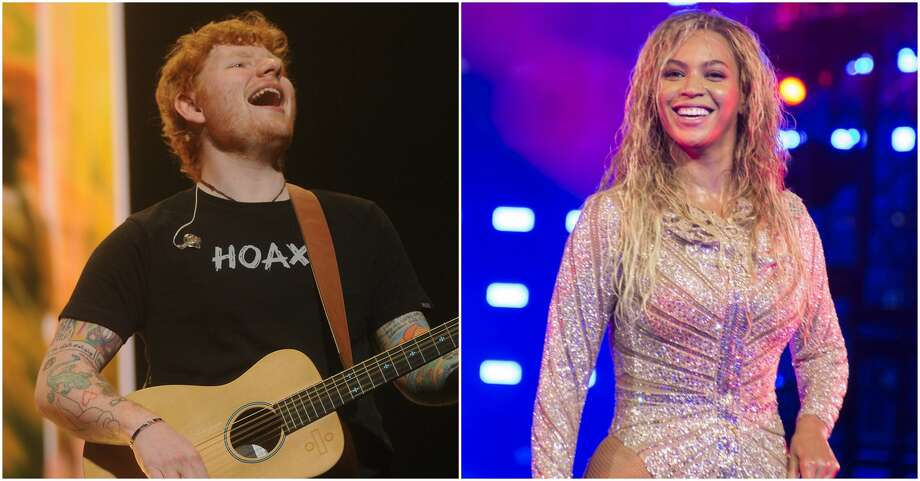 Ed Sheeran and Beyonce have teamed up for a new duet. Photo: Marco Piraccini/Mondadori Portfolio/Zuma Press/TNS And Dave Rossman