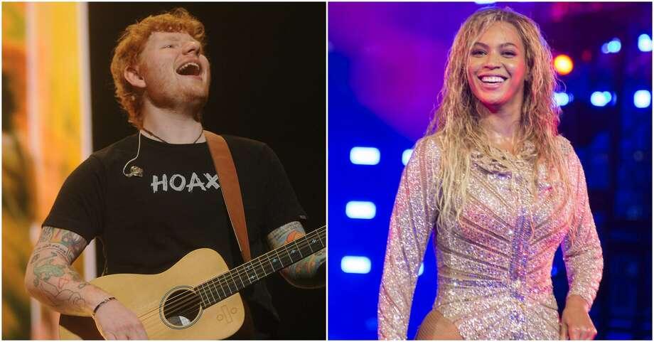 Ed Sheeran and Beyonce have teamed up for a new duet. Photo: Marco Piraccini/Mondadori Portfolio/Zuma Press/TNS And Dave Rossman