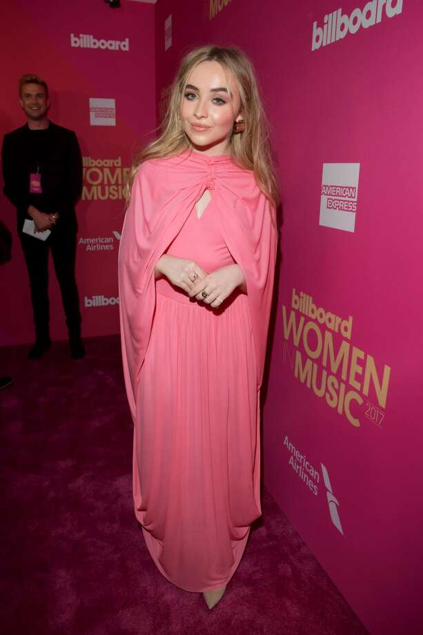Worst: Sabrina Carpenter looks like the Bubble Tape inside of its pink plastic container.  Photo: Lester Cohen/Getty Images For Billboard