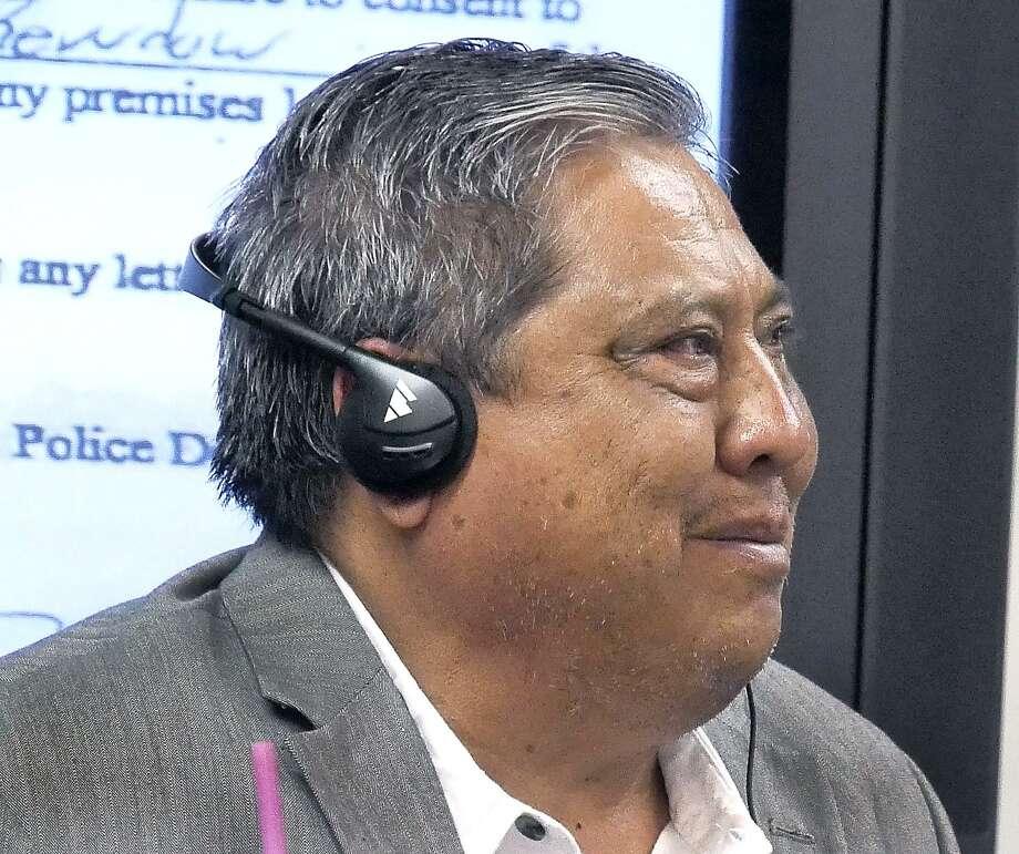 Juan Antonio García en la Corte de Distrito 406, donde se llevó a cabo el juicio por posesión de drogas, el martes 28 de noviembre de 2017. Photo: Cuate Santos /Laredo Morning Times / Laredo Morning Times