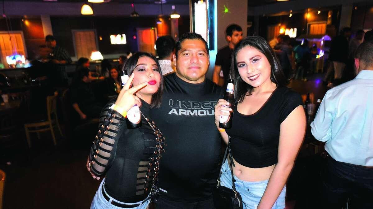 Kimberly Garcia, Jorge Martinez and Karina Guajardo at Hal's Landing Friday, December 1, 2017