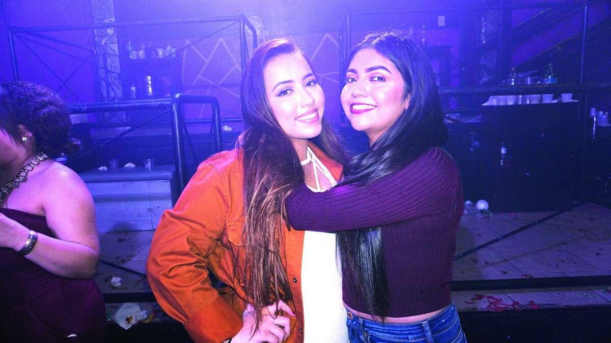 Cristina Contreras and Clarissa Estrada at Club Vibe Friday, December 1, 2017