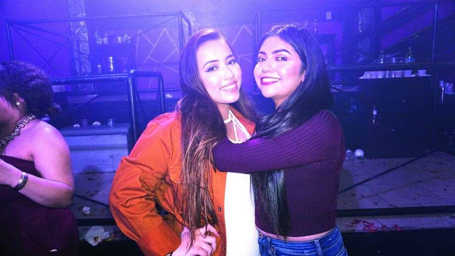 Cristina Contreras and Clarissa Estrada at Club VibeFriday, December 1, 2017 Photo: Jose Gustavo Morales