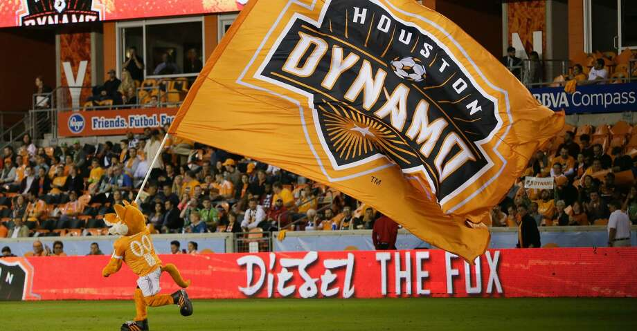 HOUSTON, TX - NOVEMBER 21: Houston Dynamo mascot Diesel The Fox takes the field at BBVA Compass Stadium on November 21, 2017 in Houston, Texas.  (Photo by Bob Levey/Getty Images) Photo: Bob Levey/Getty Images