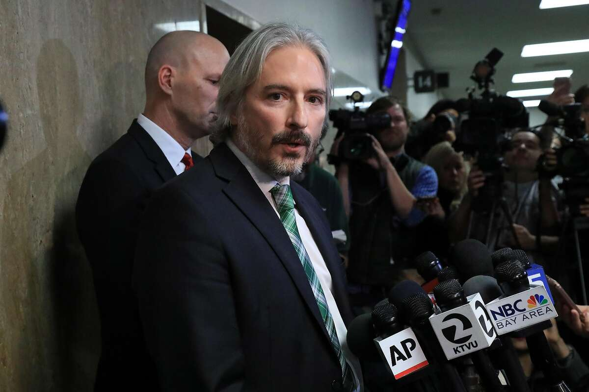 Public Defender Matt Gonzalez speaks to reporters after Jose Ines Garcia Zarate was acquitted of murder and manslaughter charges in San Francisco, Nov. 30, 2017. Kate Steinle�s July 2015 death on a San Francisco pier became a touchstone in the national debate over immigration. (Jim Wilson/The New York Times)