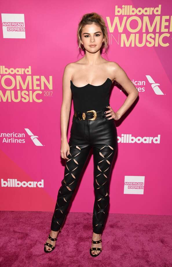 "Best: Selena Gomez, Billboard's ""Woman of the Year,"" is rocking Sandy bad girl vibes from ""Grease."" Photo: Michael Kovac/Getty Images For Billboard"