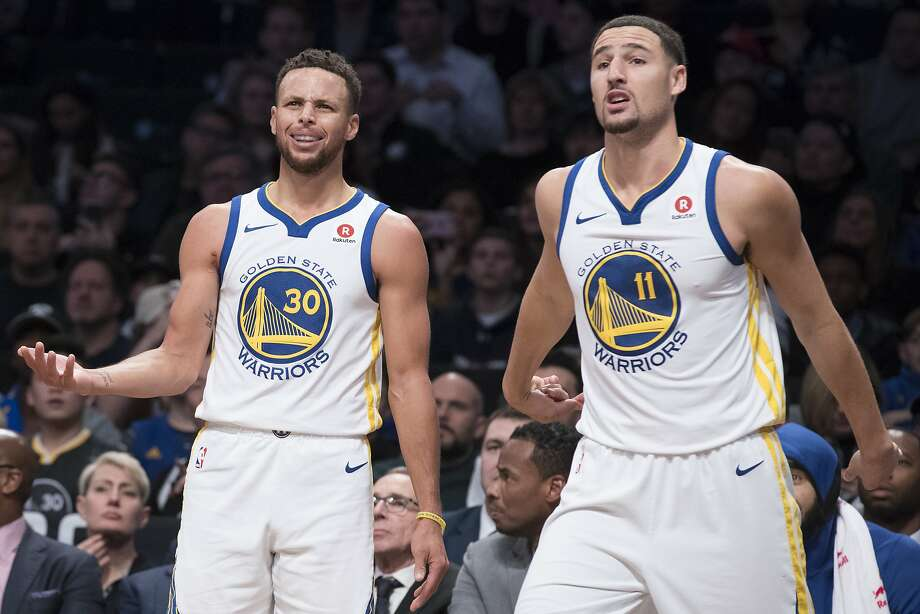 b65e8b47b517 Golden State Warriors guard Stephen Curry (30) and guard Klay Thompson (11)