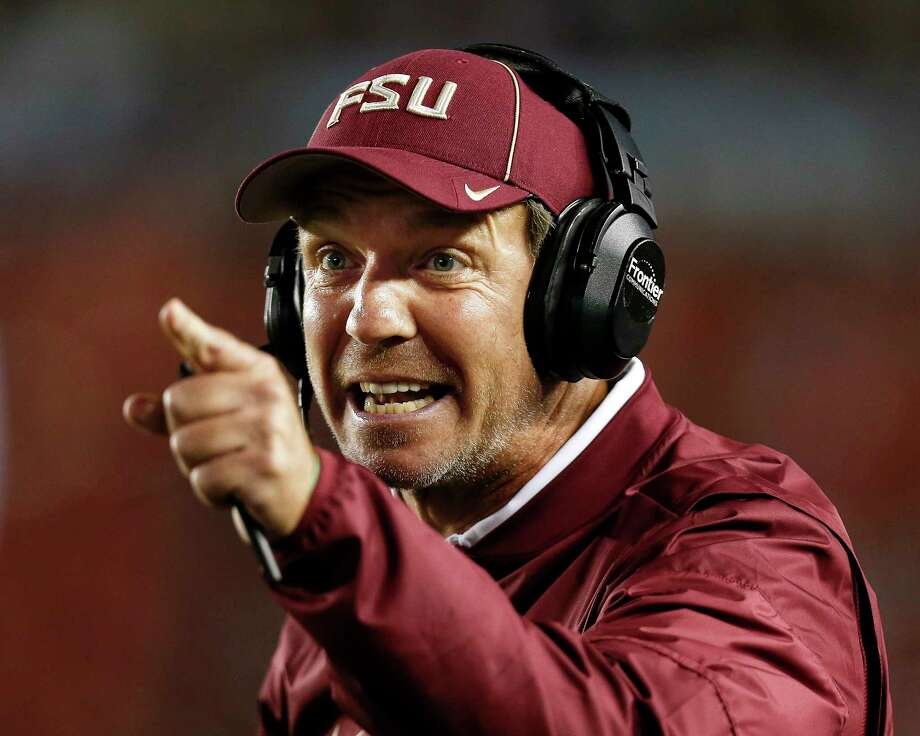 Florida State's Jimbo Fisher hopes to point the 5-6 Seminoles toward a bowl with a victory over visiting Louisiana- Monroe on Saturday. Photo: Don Juan Moore, Contributor / 2016 Don Juan Moore