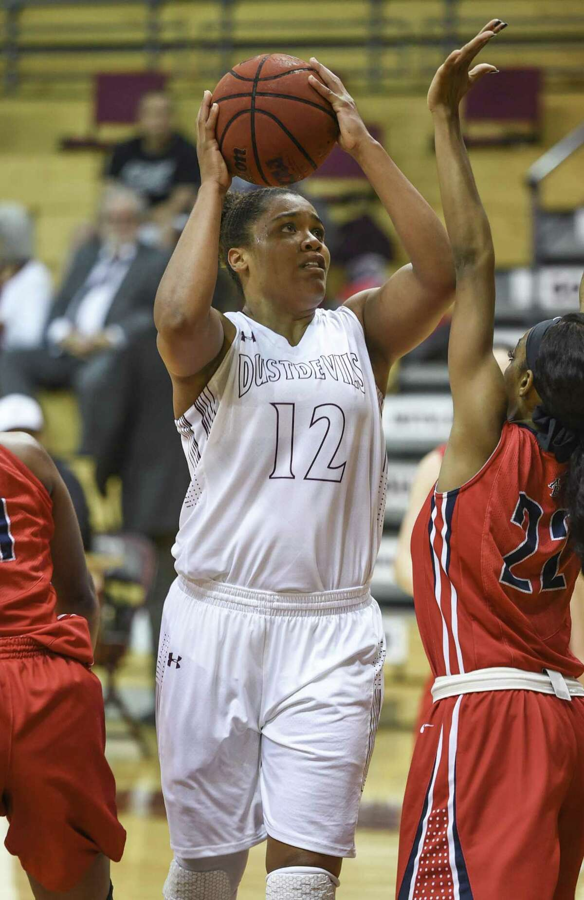 LaShae Rolle and the Dustdevils host Oklahoma Christian Thursday in a battle of two teams in the Heartland Conference still vying for their first league win.