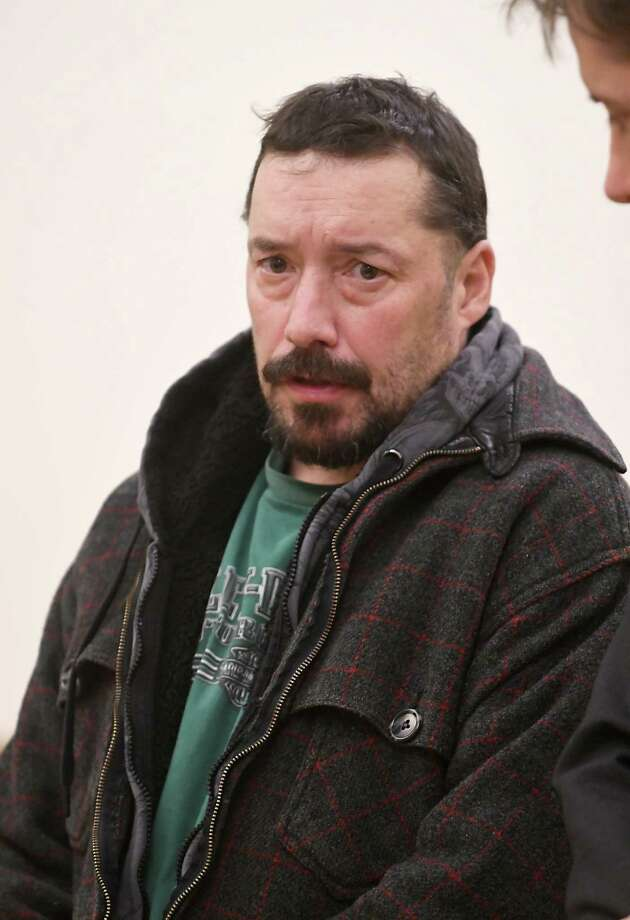 John Gomes, 51, is arraigned in Cohoes City Court on charges of arson and reckless endangerment. Gomes is accused of starting a barrel fire in his backyard that quickly spread out of control. Photo: Lori Van Buren / 20042290A