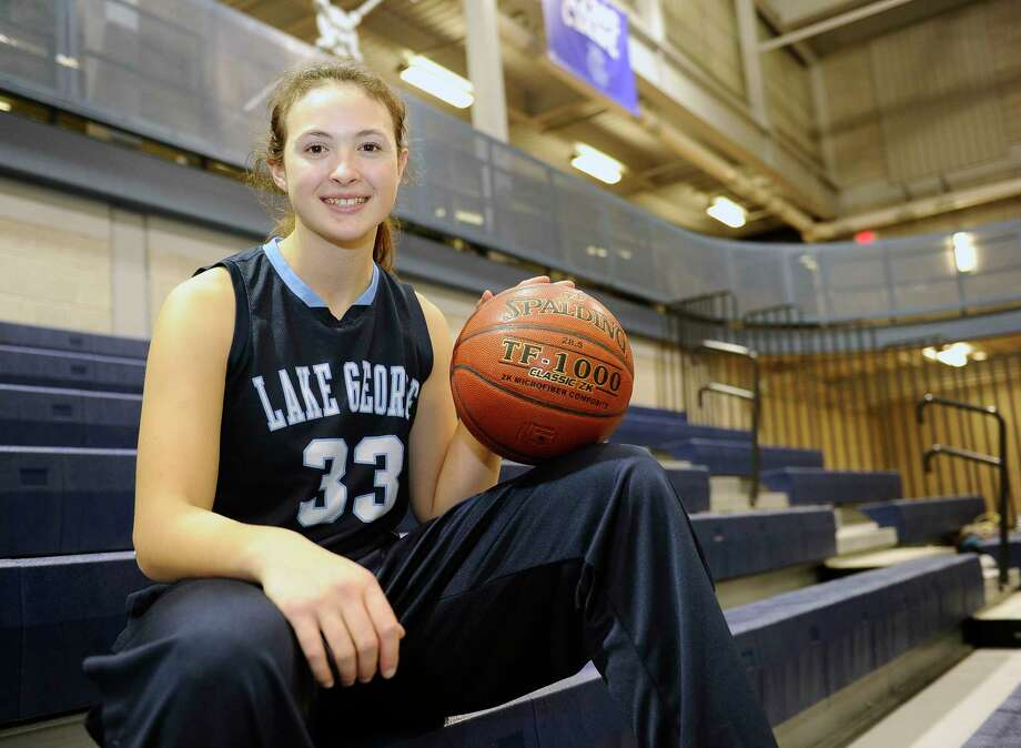 Lake George's Graceann Bennett before the start of a girls high school basketball game against Cohoes' on Thursday, Nov. 30, 2017, in Cohoes, N.Y. (Hans Pennink / Special to the Times Union) ORG XMIT: HP115 Photo: Hans Pennink / 20042274A
