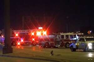 A pickup driver hit a pedestrian early Friday in the outbound lanes of Interstate 69 near the exit for Kirby Drive.