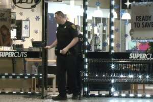 Burglars broke into two businesses at the Weslayan Plaza West shopping center early Friday morning.
