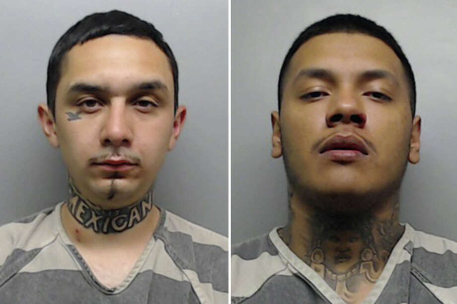 Eduardo Gonzalez, 22, and Jesus Gerardo Flores, 20, were each charged with aggravated assault with a firearm. Photo: Webb County Sheriff's Office