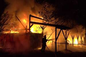 A barn fire late Thursday destroyed a number of vehicles and equipment in Montgomery County.