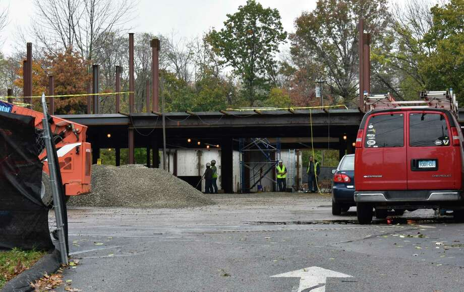 An Equinox facility under construction in November 2017 in Fairfield at 222 Old Post Road, the site of the former Southport Athletic Club. Photo: Alexander Soule / Hearst Connecticut Media / Stamford Advocate