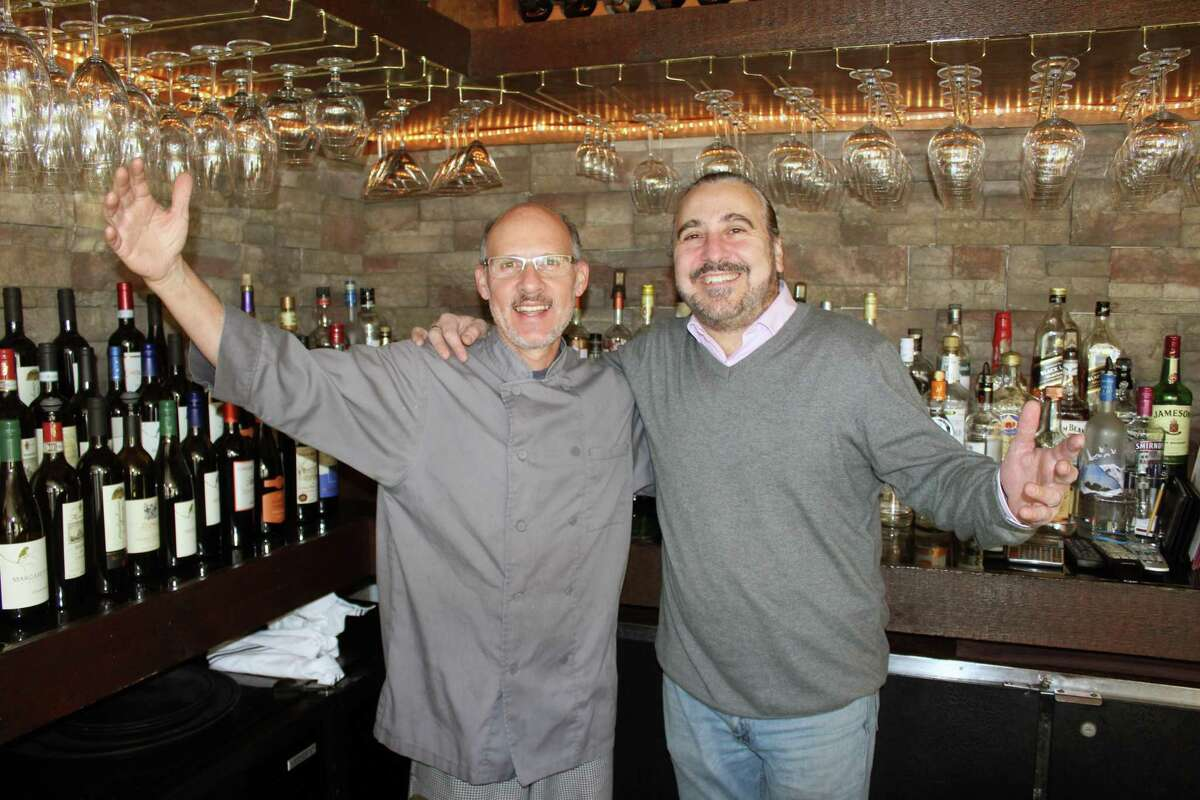 Miguel Angelo D'Onofrio and Massimo Tabacco at the recently rebranded Bar Lupa in Westport.