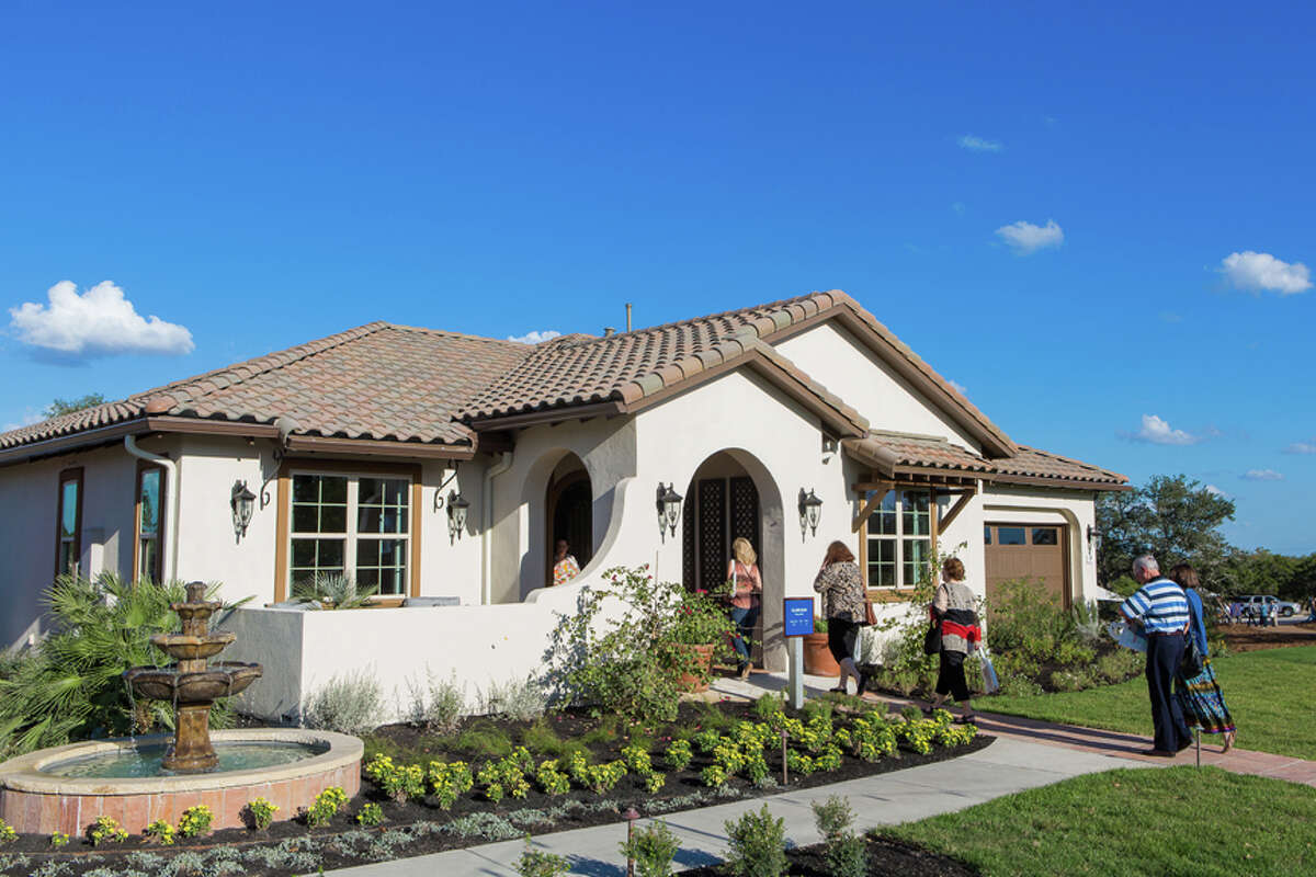 Homes in Kissing Tree in San Marcos are designed for the baby boomer generation.
