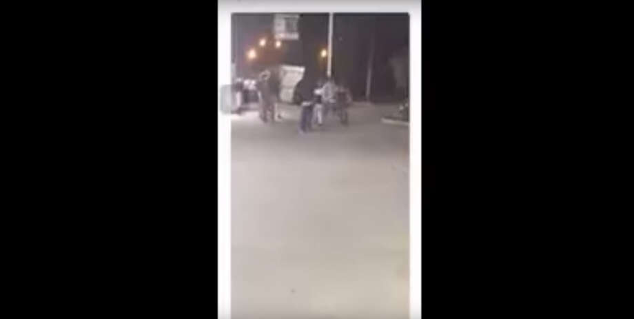 The graphic social media video was released by the Houston Police Department and appears to show the altercation prior to the shooting of Oscar Green, 47. The portion of the video showing Green's dead body lying on the pavement has been edited out by Chron.com. Photo: Houston Police Department