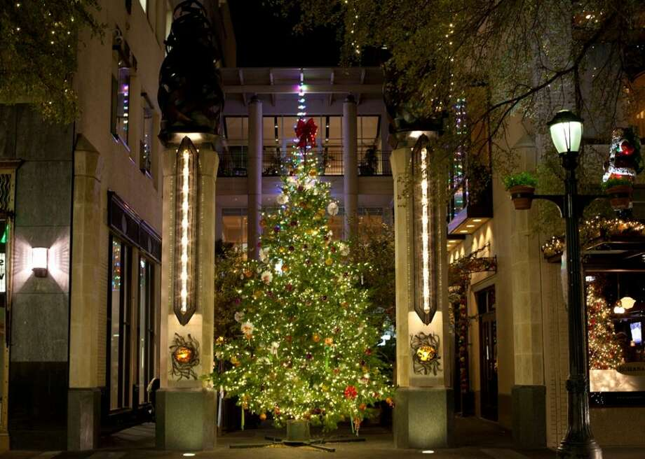 the big christmas tree at bohanans courtyard downtown highlights more than just the lights along houston