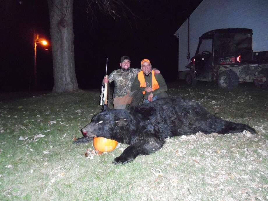A 25-year-old man from Pennsylvania shot and killed a monstrous 600-pound bear while hunting Nov. 20. Photo: Bo Bowser
