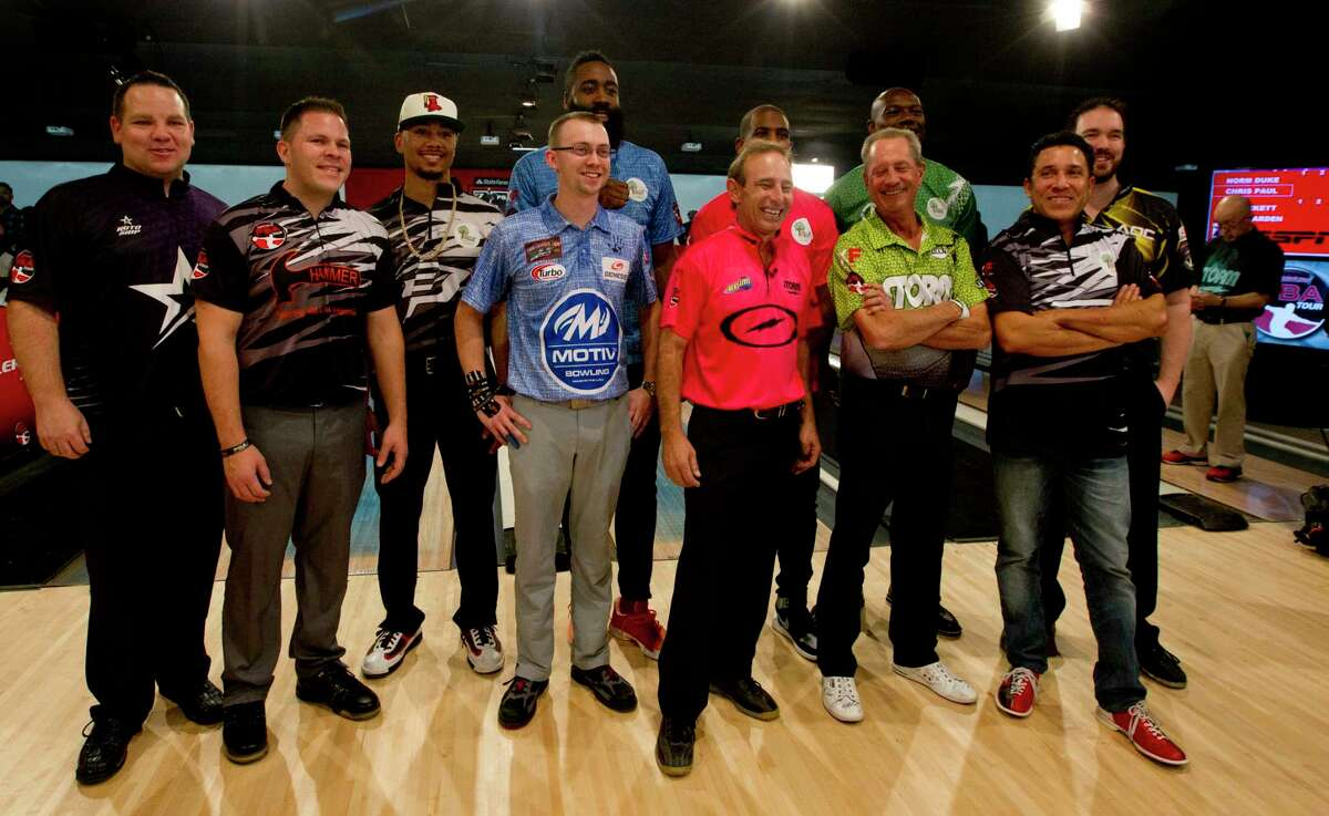 Sports starts, actors and professional bowlers competed during the CP3 PBA Celebrity Invitational at Bowlero, Thursday, Nov. 30, 2017, in The Woodlands.