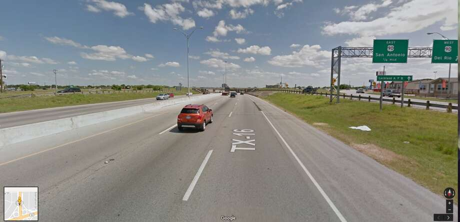 Friday, Dec.1 through 5 a.m., Monday, Dec. 4The main lanes of Loop 410, and frontage roads, both directions, at U.S. 90. All lanes will close while crews set steel bridge support beams. Southbound traffic will exit westbound U.S. 90, turn around at Hunt Lane and return to southbound Loop 410. Northbound traffic will exit eastbound U.S. 90, turn around at Military Drive and return to northbound Loop 410. Photo: Google Maps