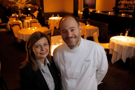 Michael and Lindsay Tusk, owners of the new Quince restaurant in San Francisco, Calif. Quince has moved into the old Myth space.