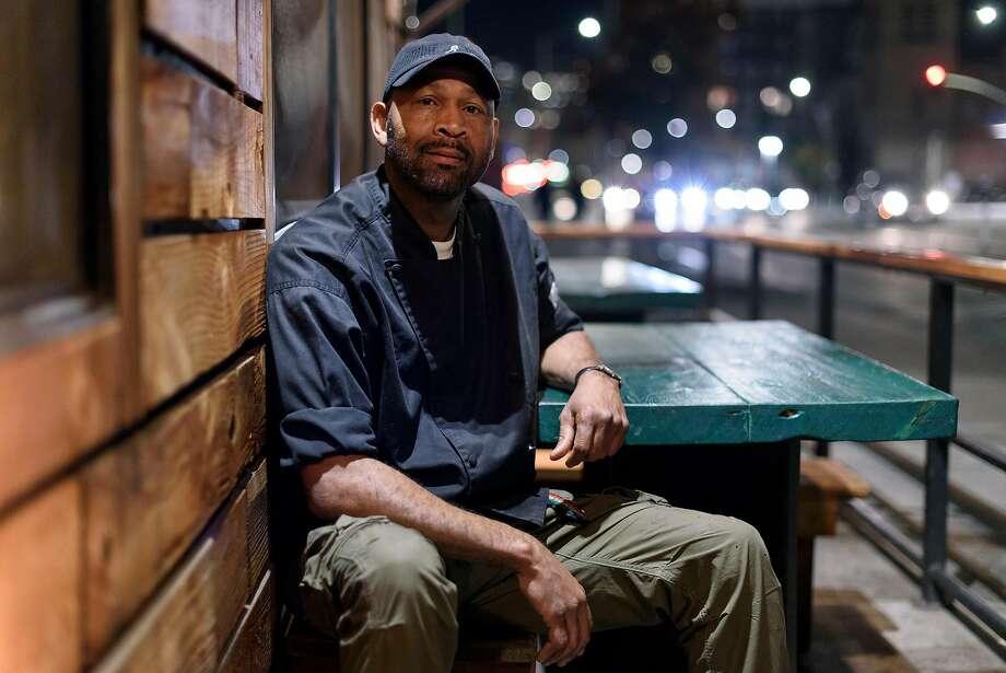 Nigel Jones outside his Oakland restaurant, Kingston 11. Photo: Michael Short, Special To The Chronicle