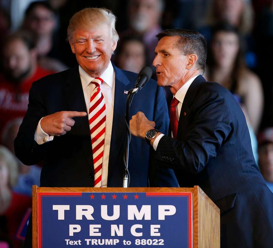 A 2016 file photo of Michael Flynn and then-presidential candidate Donald Trump. Photo: George Frey