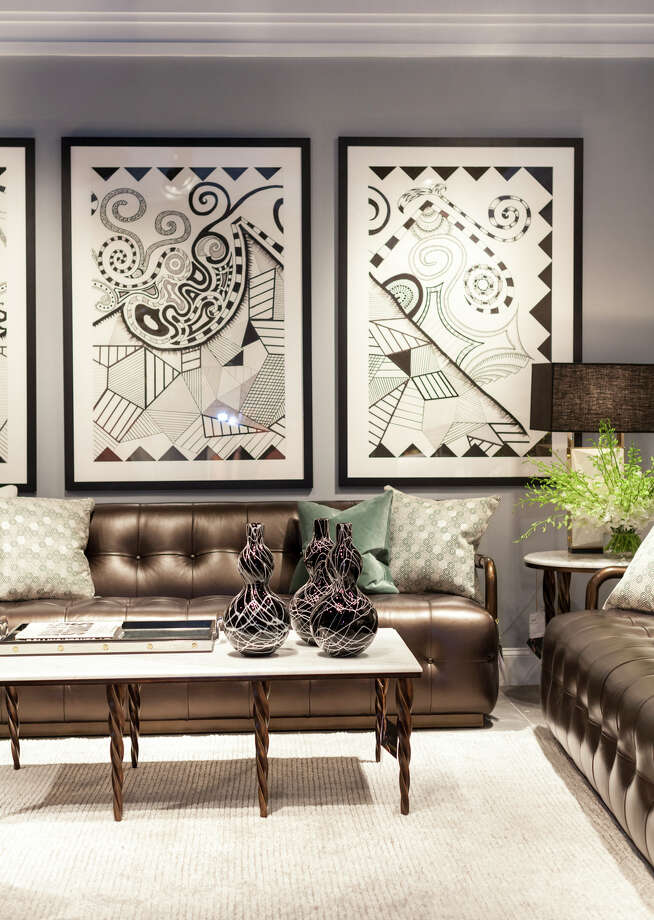 Black-and-white themes were found in many collections at the 2017 fall High Point Market. Photo: Photo Courtesy Laura U Interior Design