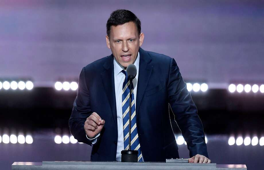Peter Thiel attacks our institutions and rails against democracy. Photo: Olivier Douliery, TNS