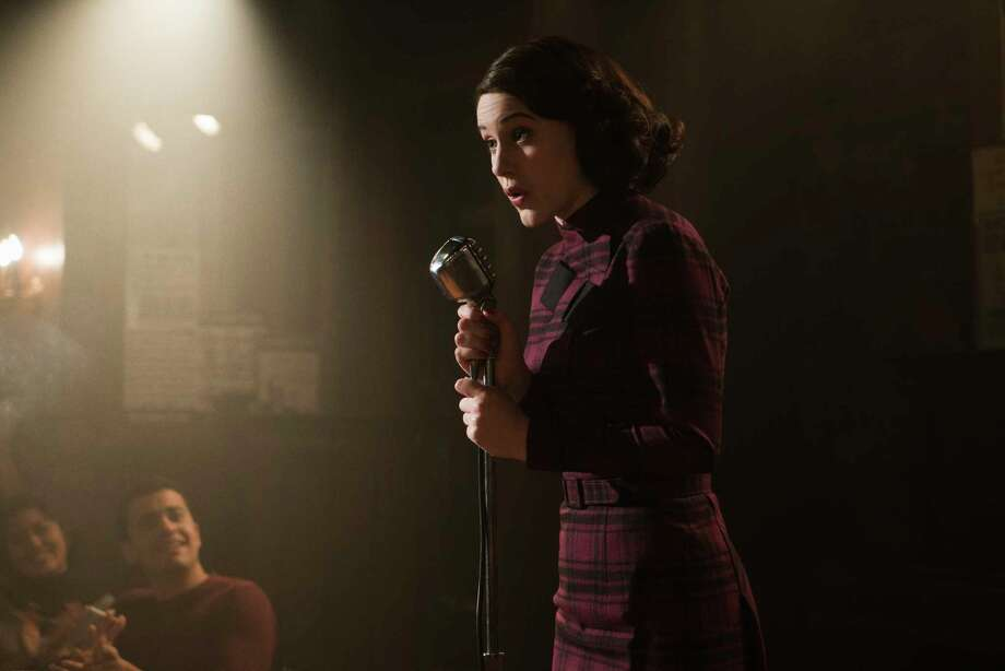 """Rachel Brosnahan delivers a charming performance as Midge Maisel in """"The Marvelous Mrs. Maisel,"""" a story that could do with a bit more nuance. Photo: Nicole Rivelli, HONS / Amazon"""