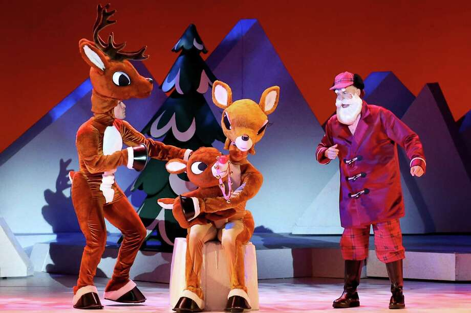 "A scene from the stage version of ""Rudolph the Red-Nosed Reindeer,"" coming to the Shubert Theatre in New Haven. Photo: Shubert Theatre / Contributed Photo"