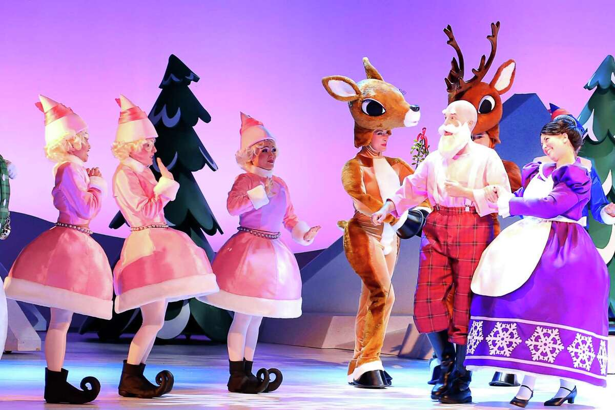 Santa and Mrs. Claus in the stage musical,