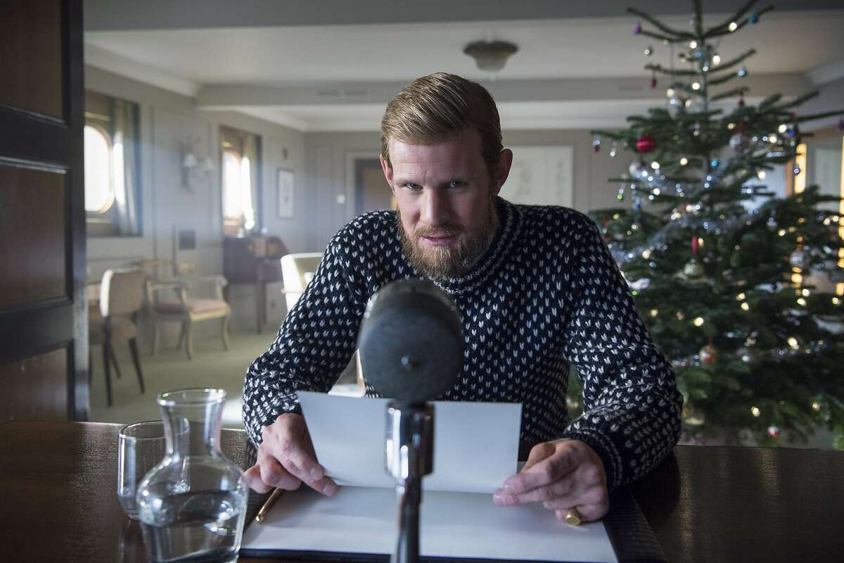 Matt Smith as the Duke of Edinburgh offering a holiday message while away for months from London