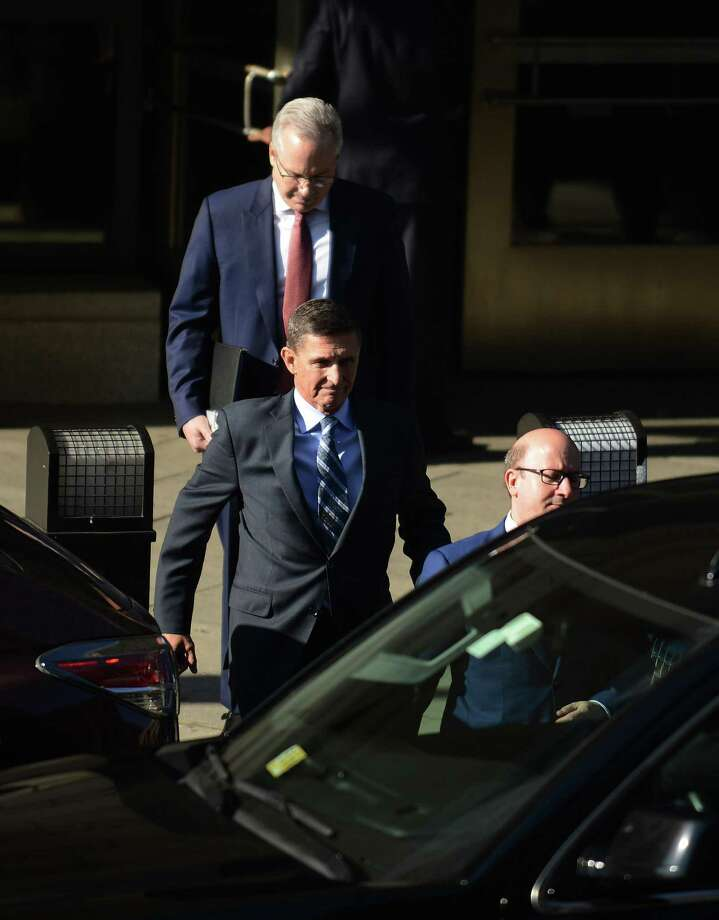 WASHINGTON, DC - DECEMBER 01:  Michael Flynn, former national security advisor to President Donald Trump, leaves following his plea hearing at the Prettyman Federal Courthouse December 1, 2017 in Washington, DC. Special Counsel Robert Mueller charged Flynn with one count of making a false statement to the FBI.  (Photo by Astrid Riecken/Getty Images) Photo: Astrid Riecken / Getty Images / 2017 Getty Images