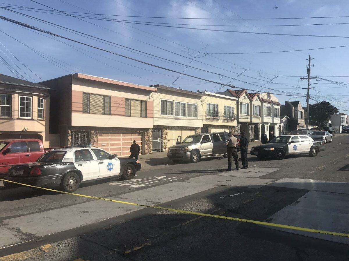 San Francisco Police investigating an officer-involved shooting in the city's Bay View neighborhood on Friday morning.