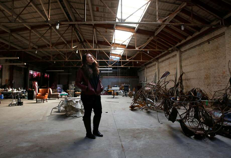 Spiteri is inside the 7,840-square-foot 30 West building that many of the former tenants of the Deathrap want to turn into a legal live/work space with 14 rooms and five studios. Photo: Michael Macor, The Chronicle