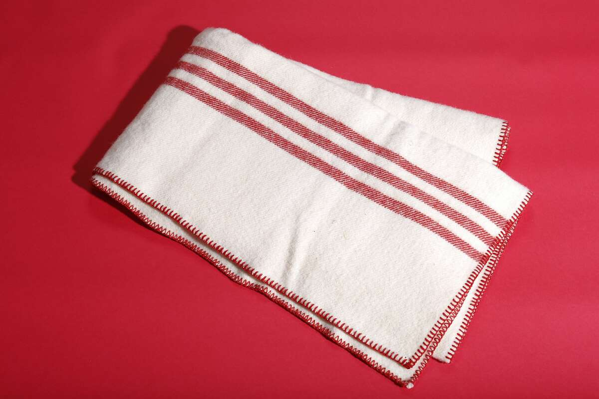 Coyuchi striped wool throw blanket, $198, 1400 Tennessee St., www.coyuchi.com.