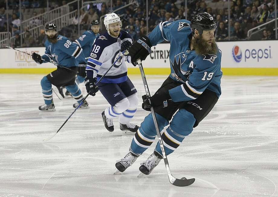 Joe Thornton has appeared in 1,062 out of 1,076 possible games for the Sharks. Photo: Jeff Chiu, Associated Press