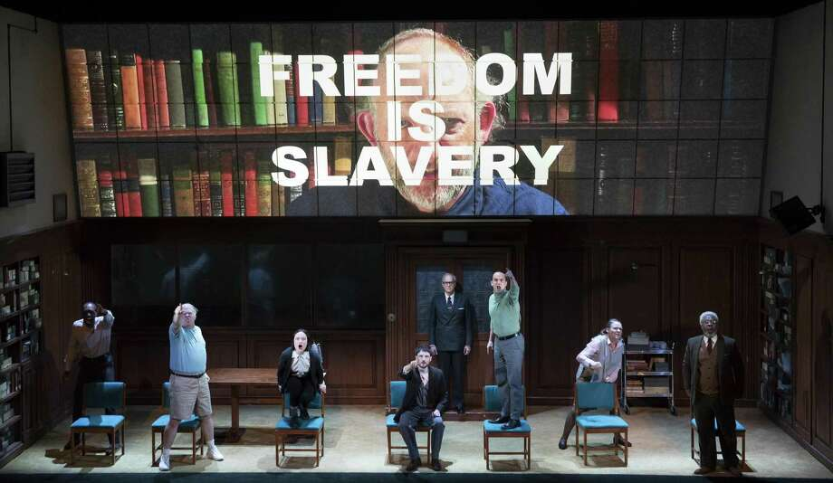 """A scene from the recent play """"1984"""" at the Hudson Theater in New York. Photo: Sara Krulwich /The New York Times / NYTNS"""