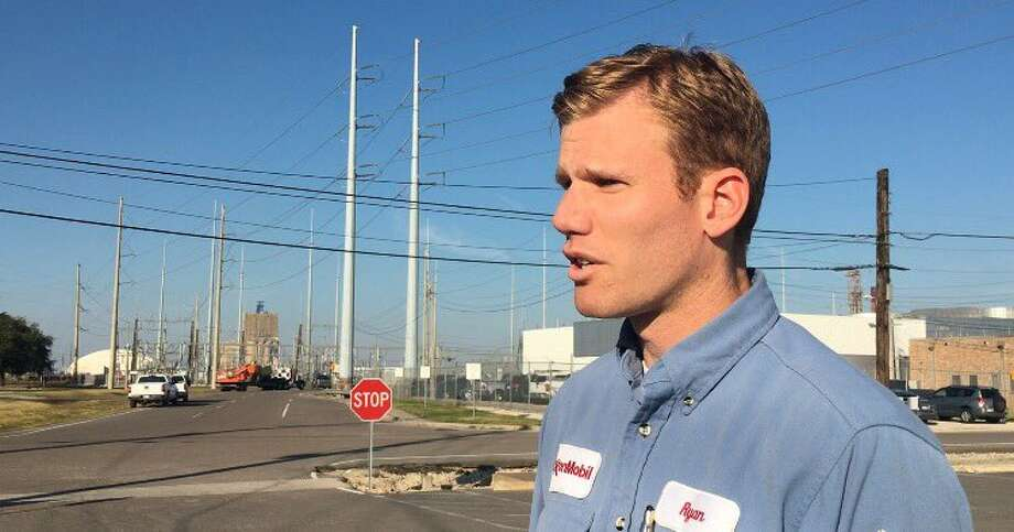 Exxon Mobil Operations Manager Ryan Bucholtz addresses media about a Dec. 1 fatality at the Beaumont refinery.Krista Chandler/The Enterprise Photo: BE