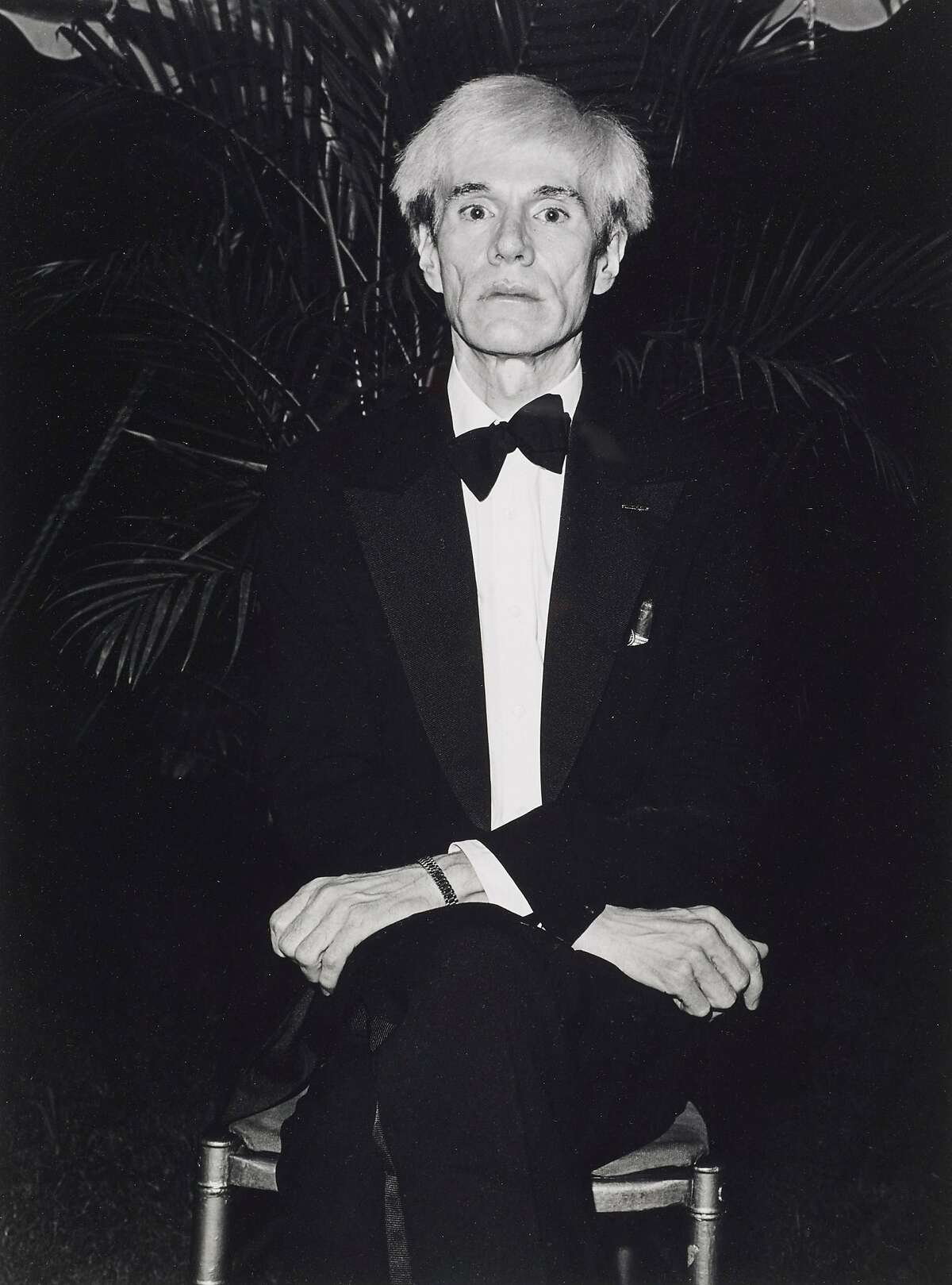 """Sal Lopes' 1981 photograph of Andy Warhol is one of the works from the collection of Robert Johnson on view in """"Catch �Catch and Release IV"""" at Petaluma's Ice House Gallery."""