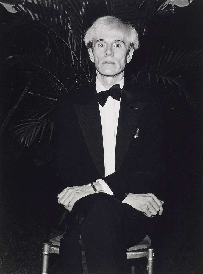 """Sal Lopes' 1981 photograph of Andy Warhol is one of the works from the collection of Robert Johnson on view in """"Catch and Release IV"""" at Petaluma's Ice House Gallery. Photo: Courtesy Of Robert Johnson"""