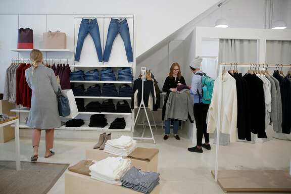Everlane, an online retail startup, opened a permanent  popup on Folsom street on Thursday, November 30, 2017, in San Francisco, Calif.
