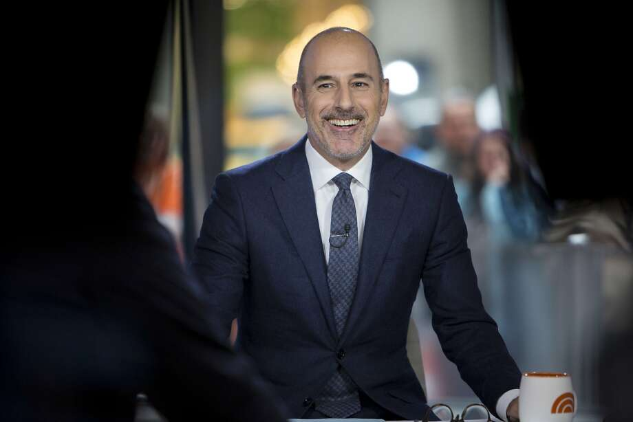 """This Nov. 16, 2017 photo released by NBC shows Matt Lauer during a broadcast of the """"Today,"""" show in New York.  NBC News fired the longtime host for """"inappropriate sexual behavior."""" Lauer's co-host Savannah Guthrie made the announcement at the top of Wednesday's """"Today"""" show. ( Zach Pagano/NBC via AP) Photo: Zach Pagano, Associated Press"""