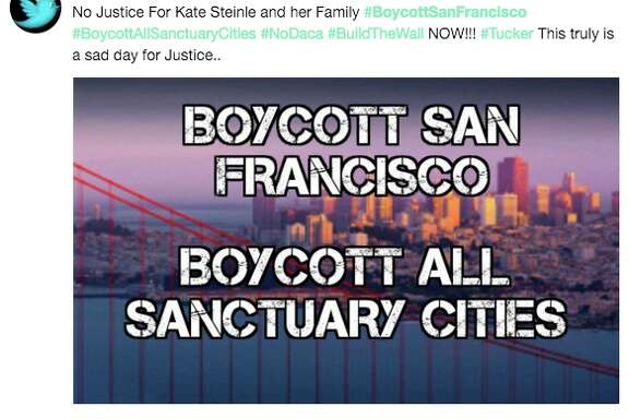 Thousands tweeted to #BoycottSanFrancisco in the wake of the stunning Kate Steinle verdict. On Friday night, a jury acquitted undocumented immigrant Jose Ines Garcia Zarate for the 2015 high profile killing of Steinle.