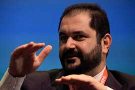 Shervin Pishevar, co-founder and co-CEO of Sherpa Global,  speaks during the opening plenary at SHARE: Catalyzing the Sharing Economy on Tuesday, May 13, 2014 in San Francisco, Calif.